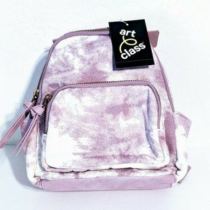 Art Class Mini Backpack Purse Purple/White Tye-Dye